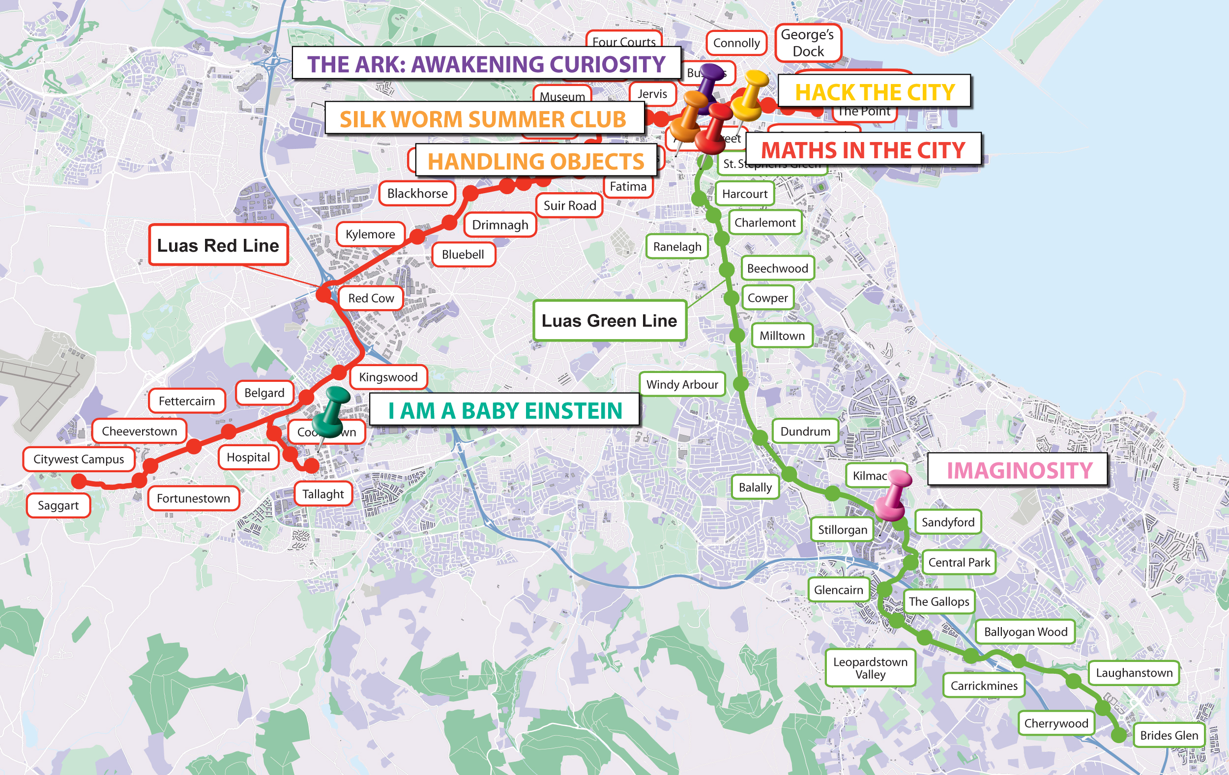 Luas Science Activity Guide Map Overview
