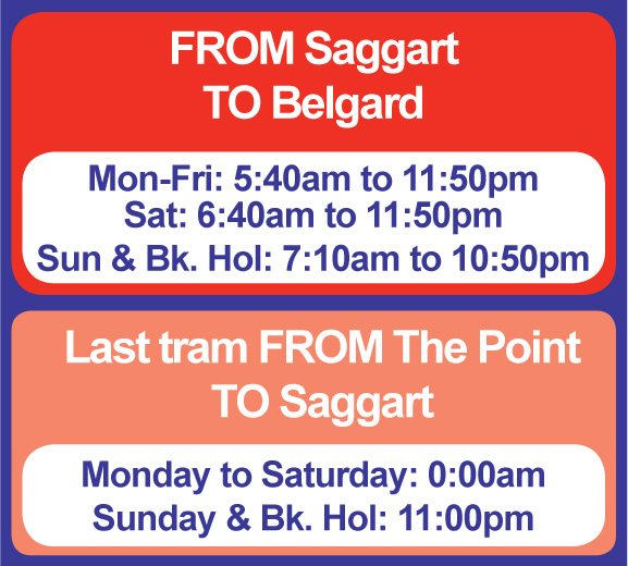 Saggart - Belgard Operating Hours
