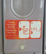 Help Button on board the tram